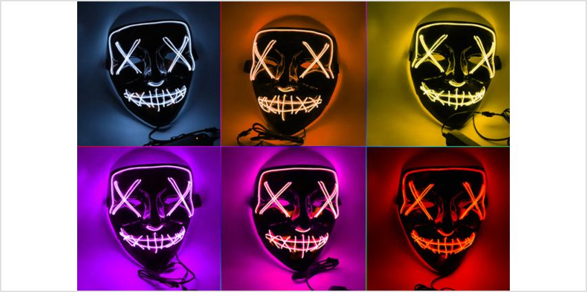£5.99 instead of £29.99 for a Halloween LED light-up mask from SecretStorz - save 80% from Wowcher