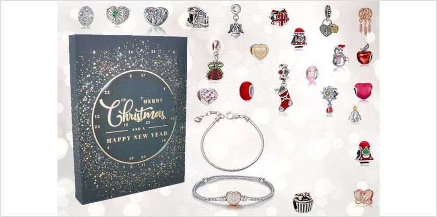 £19.99 instead of £149 for a 24 Days Jewellery Advent Calendar including Beads, Charms and Bracelets! from Genova International Ltd - save 87% from Wowcher