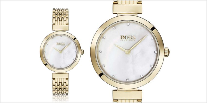 £129 instead of £349 (from Best Watch Company) for a Hugo Boss ladies gold celebration watch - save 63% from Wowcher
