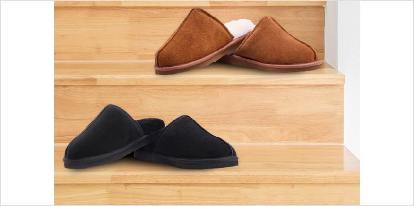 £24.99 instead of £100.18 (from Redfoot) for a pair of men's sheepskin mule slippers - save 75% from Wowcher