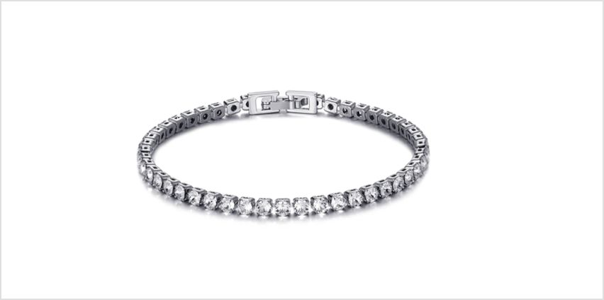 £11.99 instead of £22 (from Philip Jones) for a Philip Jones tennis bracelet made with Crystals from Swarovski ® - save 50% from Wowcher