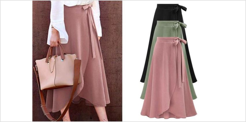 £12 instead of £29.99 (from Pinkpree) for a high waist wrap skirt - save 60% from Wowcher