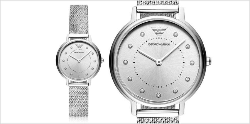 £129 instead of £199 (from Cheap Designer Watches) for a ladies Emporio Armani steel bracelet watch - save 35% from Wowcher