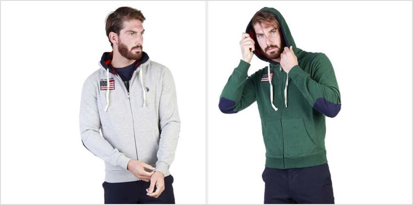 £27.99 instead of £106.90 (from BrandsStore) for a men's U.S polo zip up sweatshirt - save 74% from Wowcher