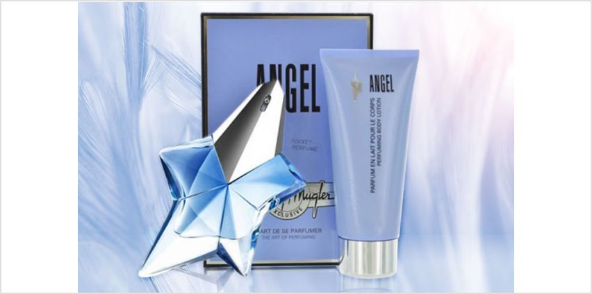 £39.99 instead of £65.26 for a Thierry Mugler Angel EDP and body lotion gift set - save 39% from Wowcher