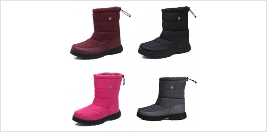 £19.99 (from Pink Pree) for a pair of unisex wool-lined waterproof winter boots in blue, black, wine red, rose red or grey - choose from UK shoe sizes 4-10 from Wowcher