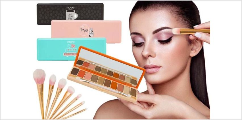 £6 instead of £33.99 (from Avant Garde) for a 10 colour matte eyeshadow palette with makeup brushes - save 82% from Wowcher