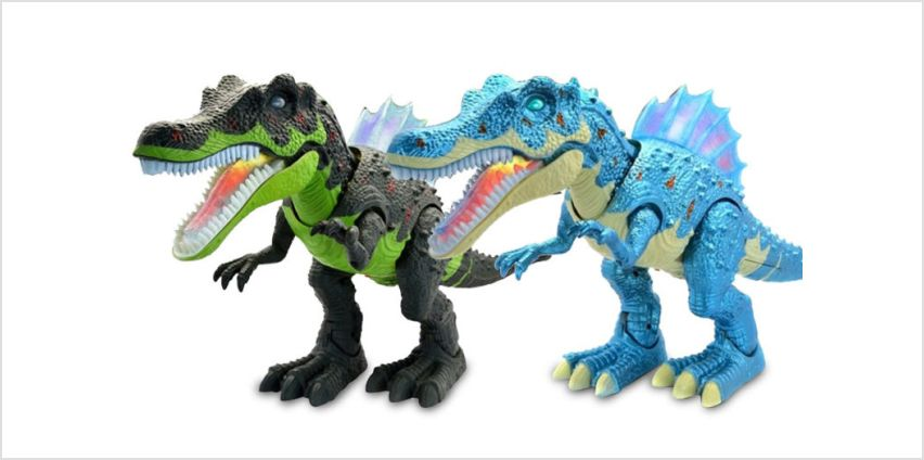 £12.99 (from Wow What Who) for an electric walking and roaring LED dinosaur - choose your colour from Wowcher