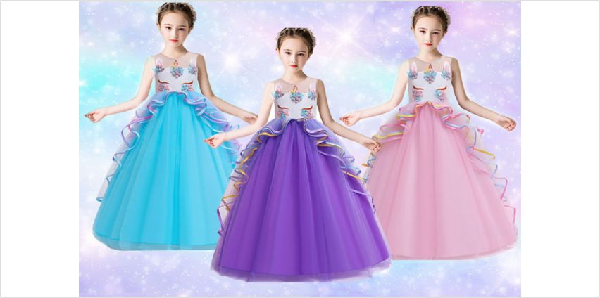 £14 instead of £49.99 (from Hey 4 Beauty) for a unicorn princess ball gown dress - save 72% from Wowcher