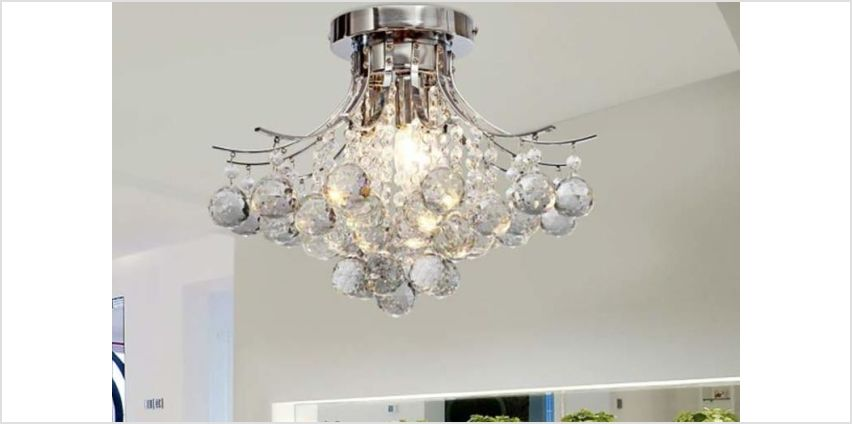 £54.99 (from Aosom) for a hanging crystal chandelier from Wowcher