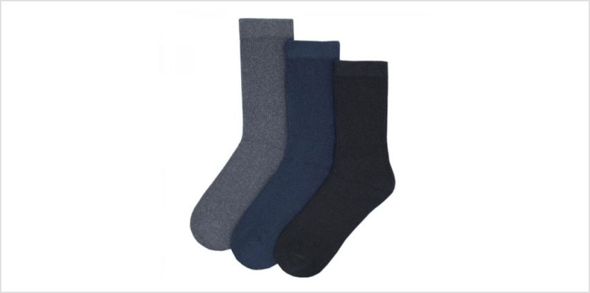 £2.99 (from Day2Day) for a three-pack of men's soft top socks from Wowcher