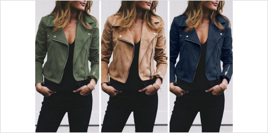 £14.99 (from Backtogoo) for a lightweight faux suede jacket! from Wowcher