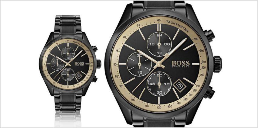 £129 instead of £399 (from Hip Watches) for a men's Hugo boss HB1513578 Grand Prix watch - save 68% from Wowcher
