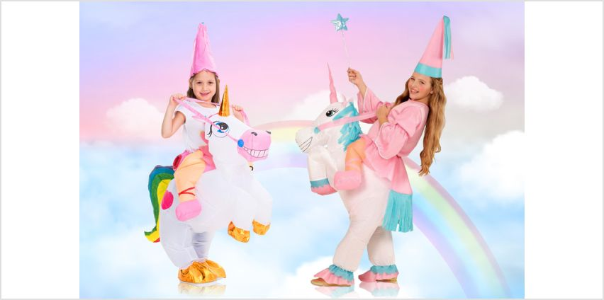 £18.99 instead of £79.99 (from Litnfleek) for an inflatable ride a unicorn costume - save 76% from Wowcher