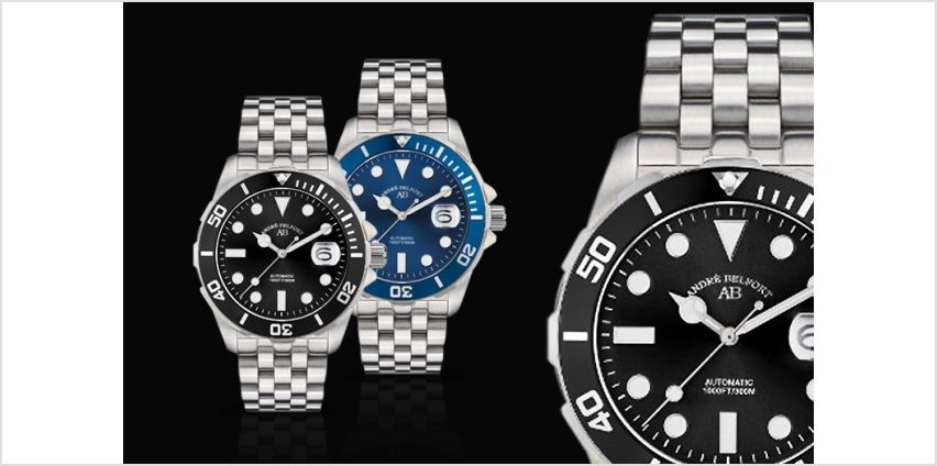 £189 instead of £1467.68 (from Rotatio) for an André Belfort luxury automatic diver's watch - save 87% + DELIVERY IS INCLUDED from Wowcher