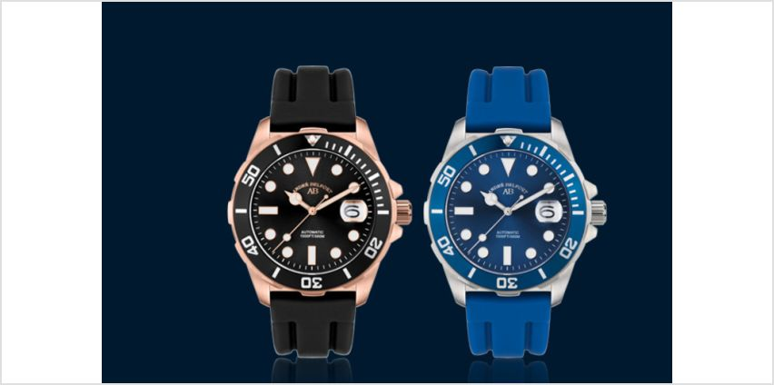 £179 instead of £1475.13 (from Rotatio) for an André Belfort automatic diver's watch - save 88% + DELIVERY IS INCLUDED! from Wowcher