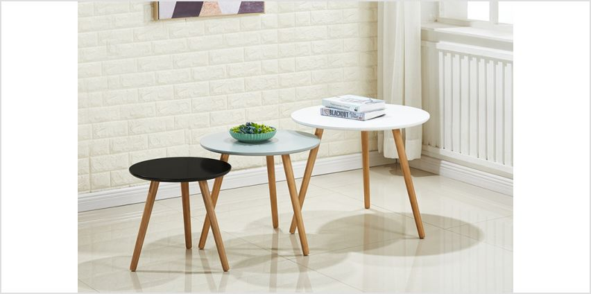 £79 instead of £149 (from P&N Homewares) for a nest of three Sandon tables - save 47% from Wowcher