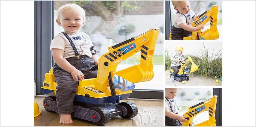 £24 instead of £84.01 (from Eurotrade) for a kids ride-on digger – save 69% from Wowcher