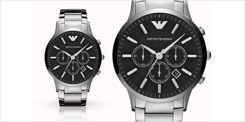 Time to check out this Mens Emporio Armani AR2460 stainless steel watch deal! from Wowcher