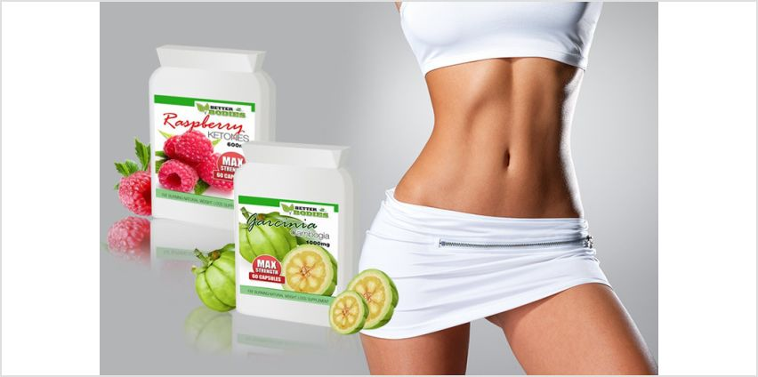 £9 instead of £20.91 (from Better Bodies) for a one-month supply* of garcinia cambogia and raspberry ketone supplements, £14 for a three-month supply* - save up to 57% from Wowcher