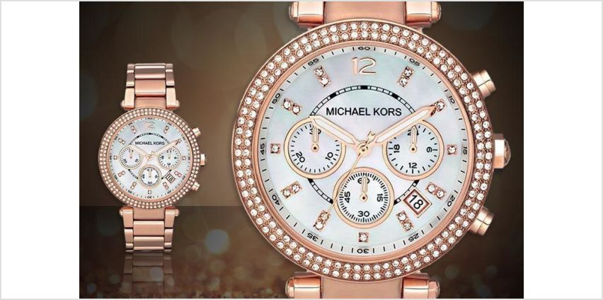 £109 (from Hip Watches) for ladies' Michael Kors MK5491 Parker watch from Wowcher