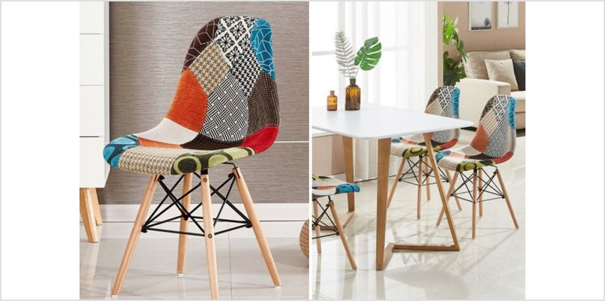 £29 instead of £75 (from Home Design International) for one patchwork chair, £69 for two or £119 for four –save up to 61% from Wowcher