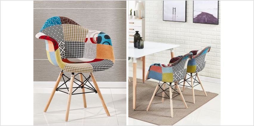 £39 instead of £80.01 (from Home Design International) for a patchwork armchair, or £79for two patchwork armchairs, or £149 for four patchwork armchairs - save up to 56% from Wowcher