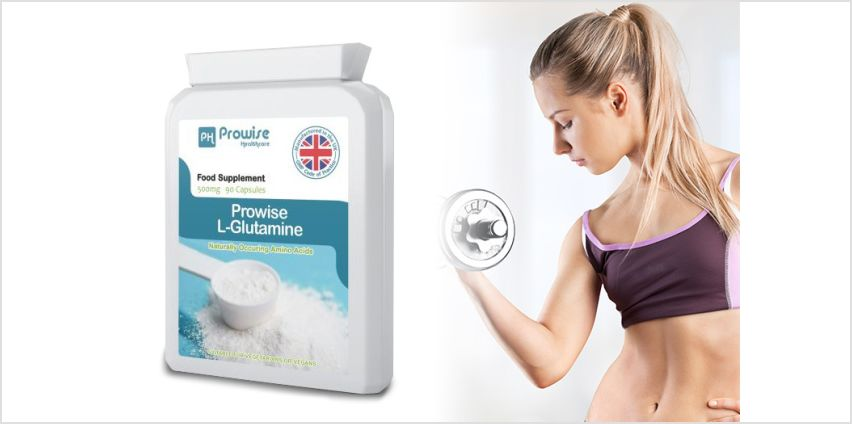 £9.99 instead of £34 (from Prowise Healthcare) for a 3-month L-Glutamine supplement - save 71% from Wowcher