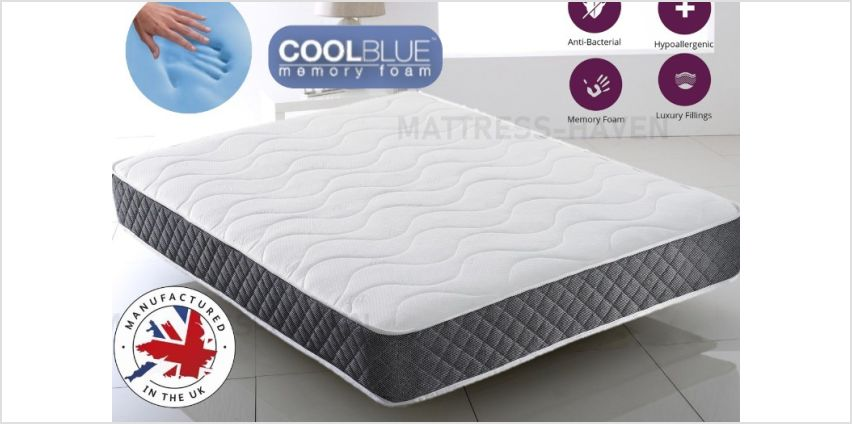 From £39 for a cool blue grey tex comfortable memory sprung mattress from Dreamtouch Mattresses LTD - save up to 90% from Wowcher