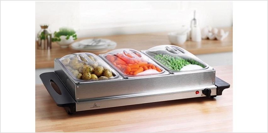 £24.99 (from Who Needs Shops) for a three-pan heated buffet server - save 70% from Wowcher