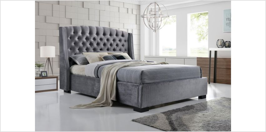 From £329 instead of £899 (from FTA Furnishing) for a grey velvet wingback double bed, or from £349 for a king bed - choose from two mattress options and save up to 63% from Wowcher