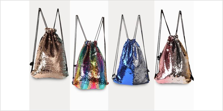 £6.99 instead of £29.99 (from Blu Fish) for a mermaid sequin drawstring bag - choose from seven designs and save 77% from Wowcher