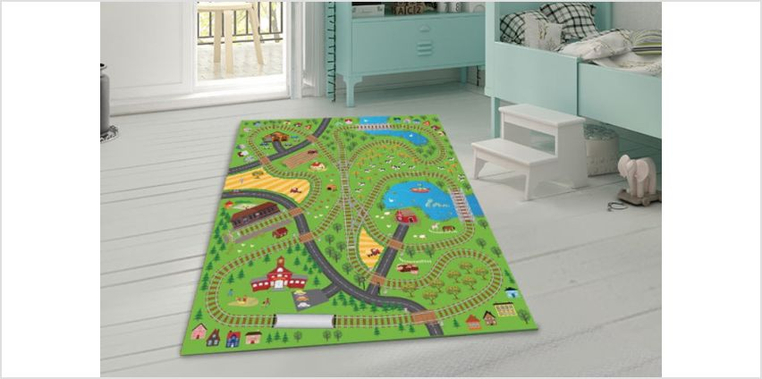 £9.99 instead of £27 (from Eurotrade LTD) for a giant kids' play mat with four toy cars - save 63% from Wowcher