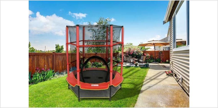 £39 instead of £173.30 (from Who Needs Shops) for a 4.5ft diameter children's trampoline with safety net - save 77% from Wowcher