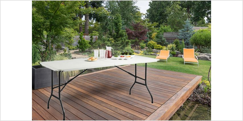 £29 instead of £62.01 (from Product Mania) for a six-foot trestle table - get outdoors and save 73% from Wowcher