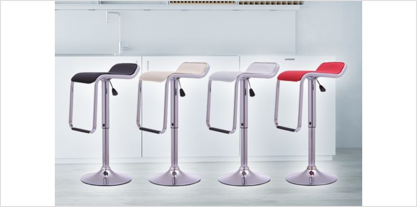 £49 instead of £145 (from Bells Bay) for a pair of Onyx II kitchen bar stools - choose from four colours and save 66% from Wowcher