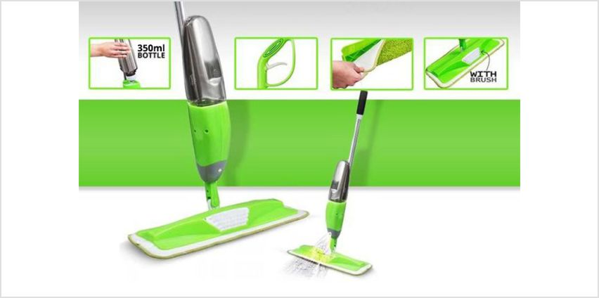 £9 instead of £49.99 for a powerzone microfibre spray mop from Direct2Public Ltd - save 82% from Wowcher