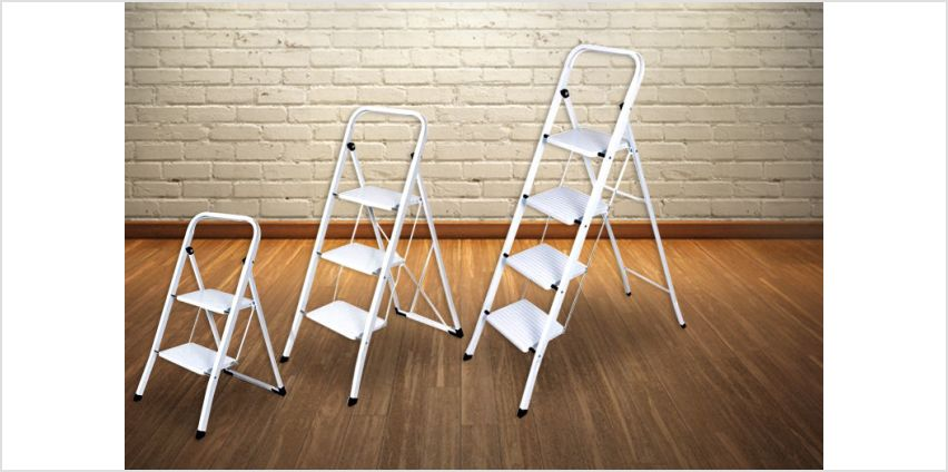 From £12 for a foldable non-slip step ladder from Direct2Public Ltd - save up to 60% from Wowcher