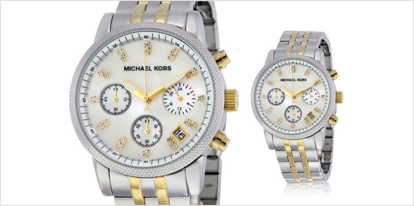 £99 instead of £242.01 (from Cheap Designer Watches) for a Michael Kors MK5057 ladies Ritz two-tone watch - save 59% from Wowcher