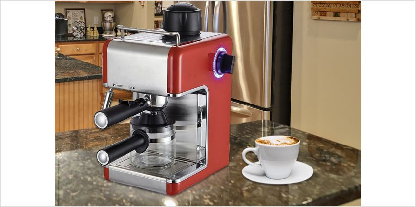 £32 instead of £119.99 for an espresso coffee machine from Direct2Public Ltd - save 73% from Wowcher