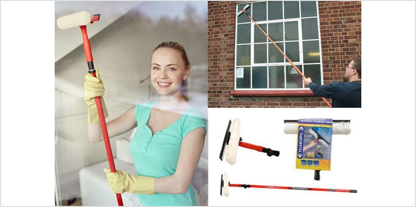 £7.99 instead of £27.99 for a 3.5m telescopic window cleaning kit from Direct2Public Ltd - save 71% from Wowcher