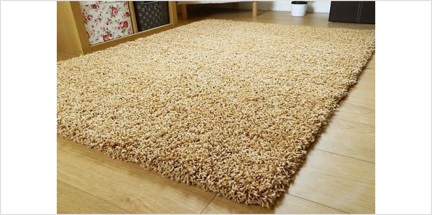 From £10 instead of £28.99 (from Groundlevel) for a shaggy lounge rug - choose from 13 colours and five sizes and save up to 66% from Wowcher