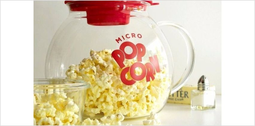 £9.99 instead of £19.99 for a glass microwave popcorn maker from Direct2Public Ltd - save 50% from Wowcher