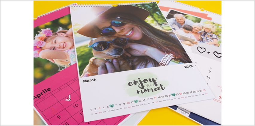 From £3.99 instead of £18.95 (from Colorland) for a personalised 2019 family calendar –save up to 79% from Wowcher