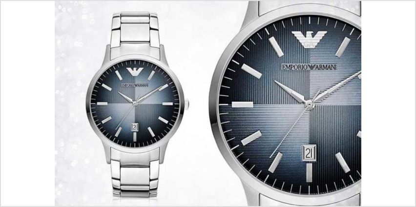 Time to check out this deal for an Emporio Armani Silvertone AR2472! from Wowcher