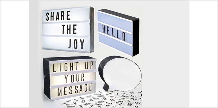 From £6.99 for an LED message light box from Direct2Public Ltd - save up to 83% from Wowcher