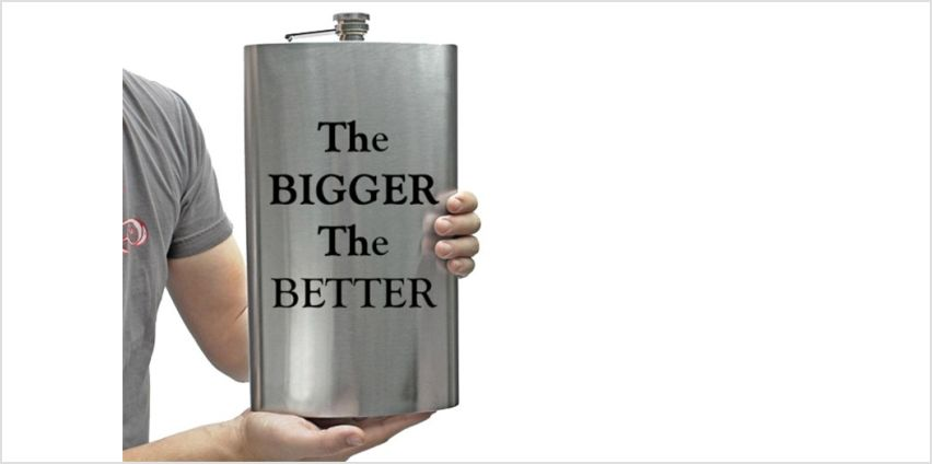 £7.99 instead of £29.99 for an XL novelty hip flask from Direct2Public Ltd - save 73% from Wowcher