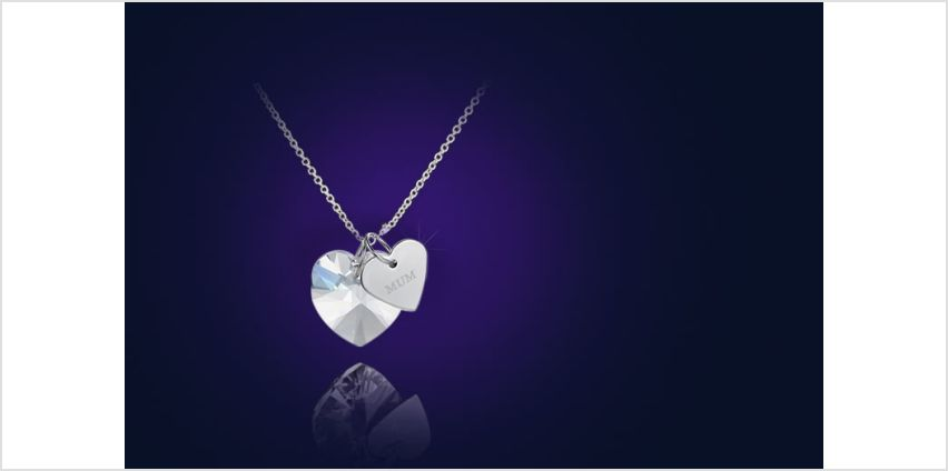 £6.99 instead of £110 for a 'mum' heart necklace made with crystals from Swarovski® from Your Ideal Gift - save 94% from Wowcher