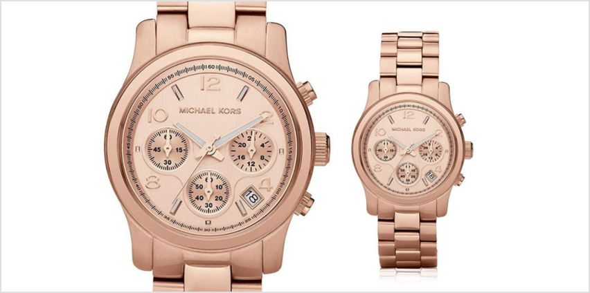 Check out this deal for a Michael Kors MK5128 ladies rose gold Runway chronograph watch! from Wowcher