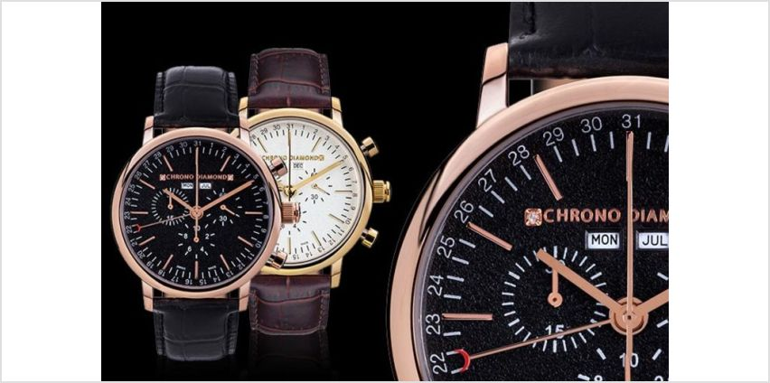 From £199 (from Rotatio) for a Swiss-made chronograph watch from Wowcher